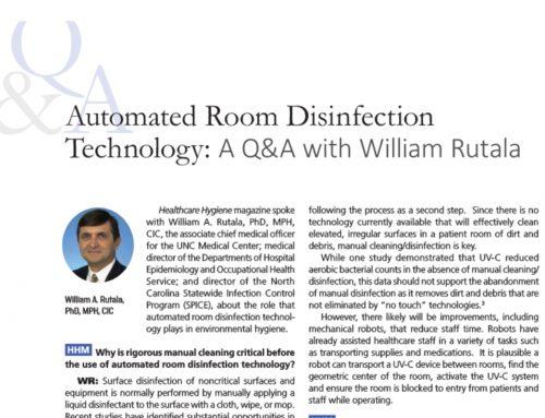 Dr. Rutala over UVC desinfectie strategieën in Healthcare Hygiëne Magazine