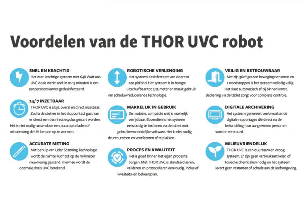Voordelen THOR UVC robot